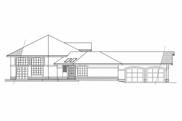 Mediterranean House Plan - Solano 11-005 - Right Elevation