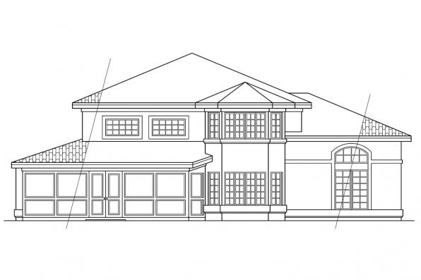 Mediterranean House Plan - Southaven 11-038 - Rear Elevation