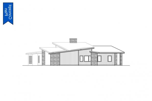 Modern Concept Plan - Syncline 31-219 - Left Elevation