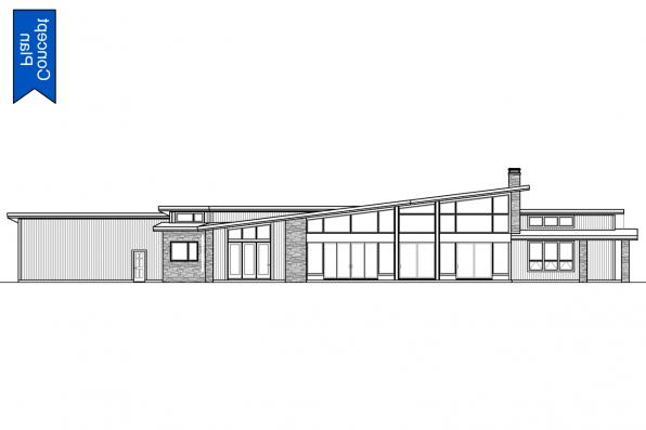 Modern Concept Plan - Syncline 31-219 - Rear Elevation