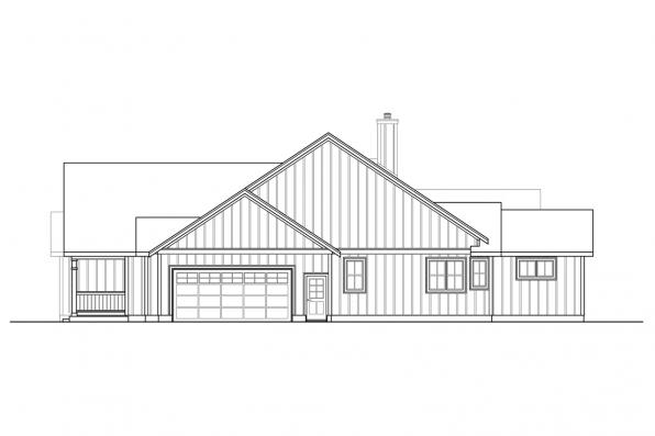 Modern House Plan - Whiskey Creek 31-143 - Left Elevation