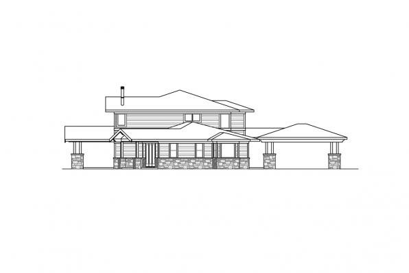 Luxury House Plan - Patagonia 31-145 - Right Elevation