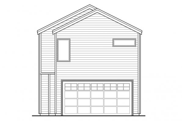 Narrow Lot House Plan - Alder Ridge 30-906 - Rear Elevation