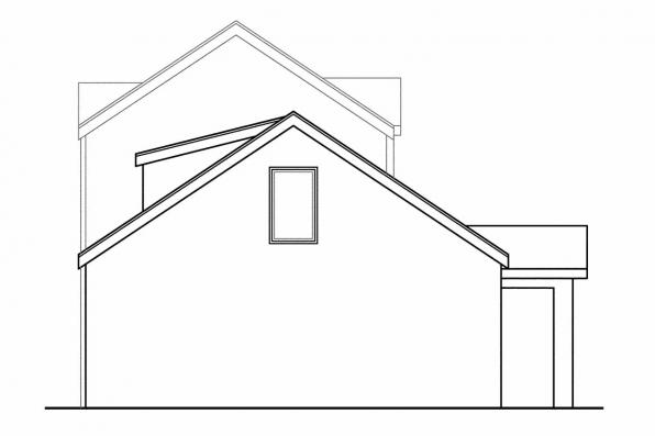 Narrow Lot House Plan - Goldenheart 10-580 - Rear Elevation