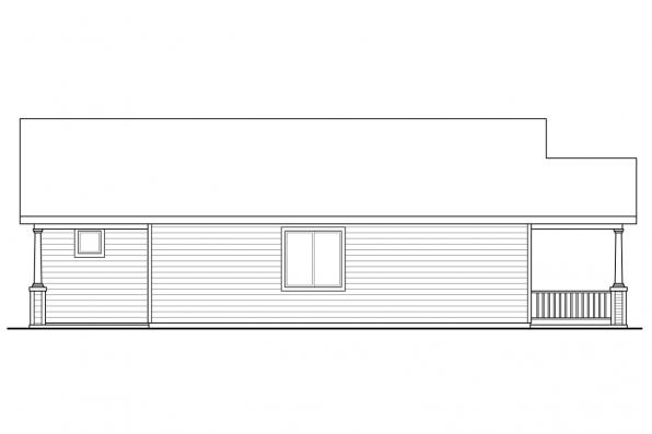 Narrow Lot House Plan - Morrison 30-973 - Right Elevation