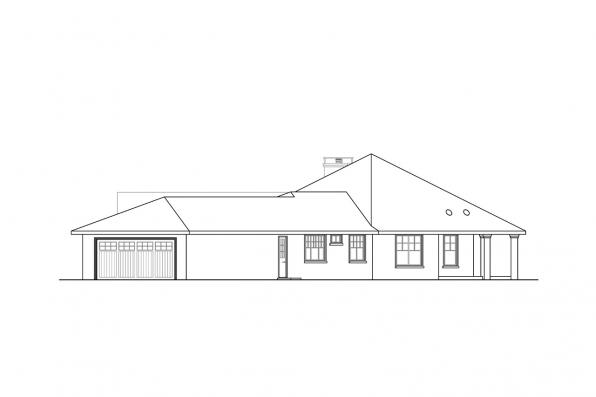 Open Concept House Plan - Duvall 10-603 - Left Elevation