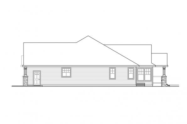 Prairie House Plan - Mossy Point 30-900 - Left Elevation