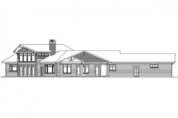 Prairie Style House Plan - Springwater 30-661 - Right Elevation