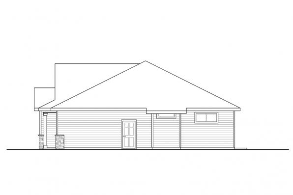 Ranch Home Design - Stowe 31-138 - Left Elevation