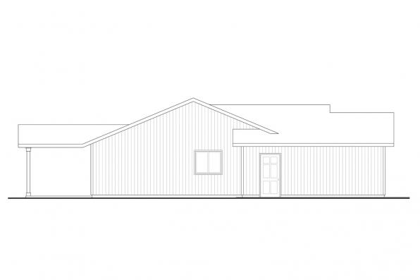 Ranch Home Plan  - Wapato 31-210 - Right Elevation