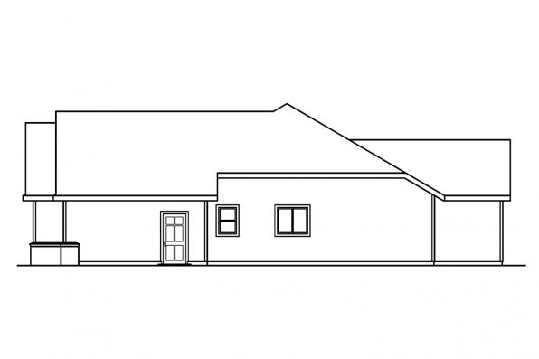Ranch House Plan - Anderson 30-467 - Left Elevation