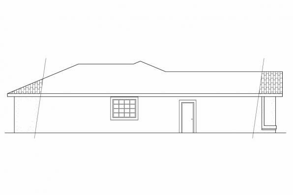 Ranch House Plan - Anton 11-080 - Right Elevation