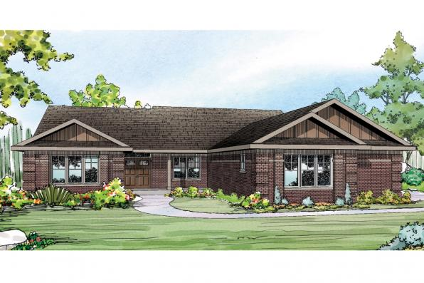 Ranch House Plan - Bakersfield 10-582 - Front Elevation