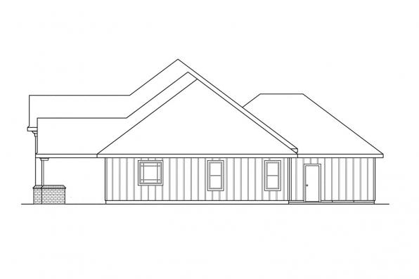 Ranch House Plan - Barstow 30-050 - Left Elevation