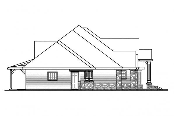 Ranch House Plan - Bentley 30-560 - Right Elevation