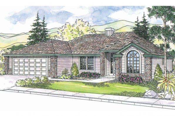 Ranch House Plan - Bingsly 30-532 - Front Elevation