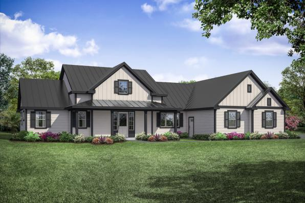 Farmhouse Plan - Boulderfield 31-147 - Front Elevation