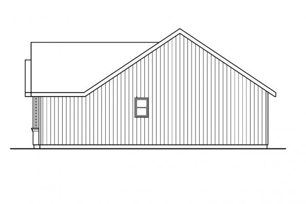 Ranch House Plan - Briarton 30-339 - Left Elevation