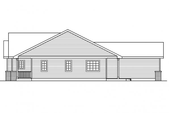 Ranch House Plan - Callaway 30-641 - Left Elevation