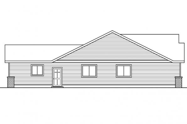 Ranch House Plan - Callaway 30-641 - Right Elevation