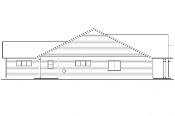 Ranch House Plan - Caspian 30-868 - Right Elevation