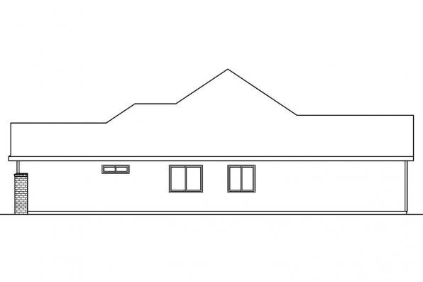 Ranch House Plan - Cheyenne 30-643 - Left Elevation