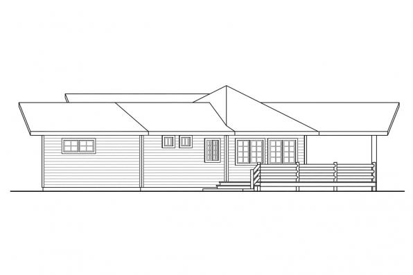 Ranch House Plan - Greenview 70-004 - Left Elevation
