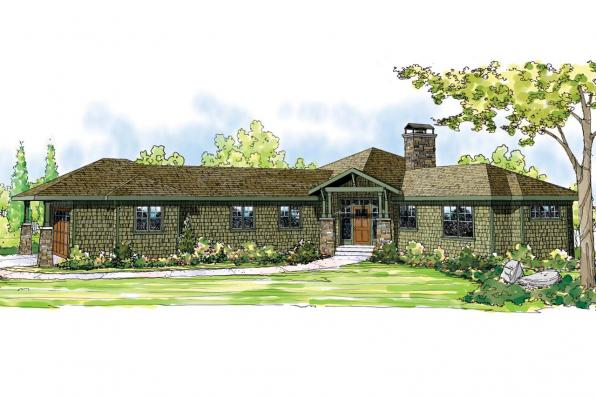 Shingle Style House Plan - Heartview 50-015 - Front Elevation