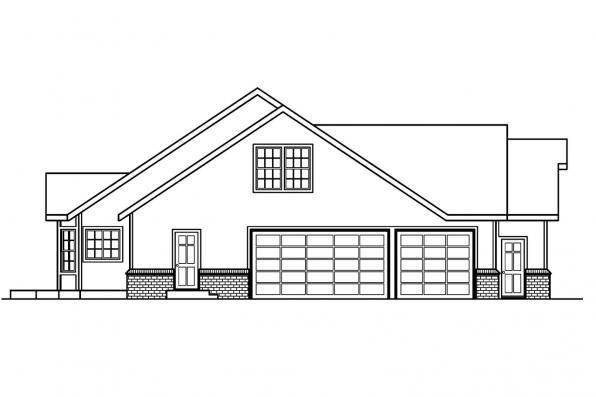 Ranch House Plan - Hillrose 30-269 - Right Elevation
