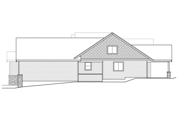 Ranch House Plan - Holly Hill 31-243 - Left Elevation