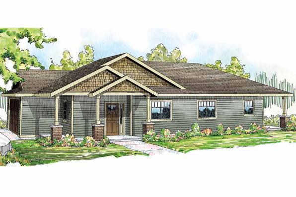 Ranch House Plan - Hopewell 30-793 - Front Elevation