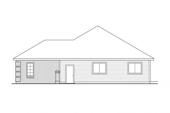 Ranch House Plan - Lewiston 30-053 - Left Elevation