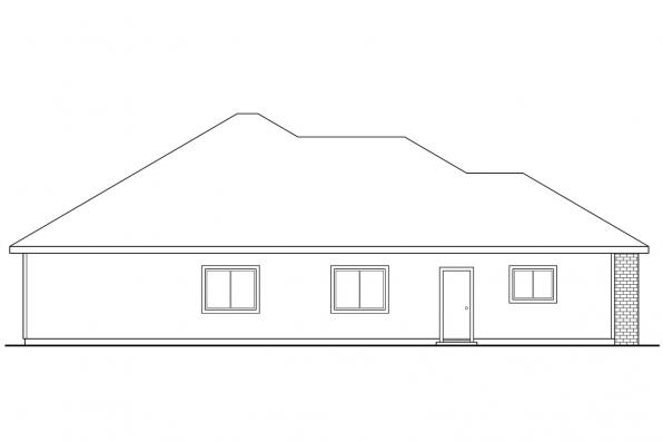 Ranch House Plan - Lynden 30-143 - Right Elevation