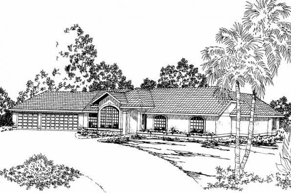 Ranch House Plan - Magnolia 11-073 - Front Elevation