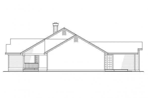 Ranch House Plan - Marysville 30-112 - Left Elevation