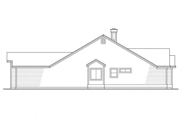 Ranch House Plan - Marysville 30-112 - Right Elevation
