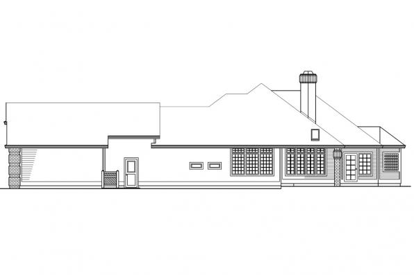 Ranch House Plan - Norwich 30-175 - Left Elevation
