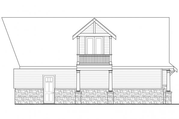 Ranch House Plan - Nottingham 30-965 - Garage Rear Elevation