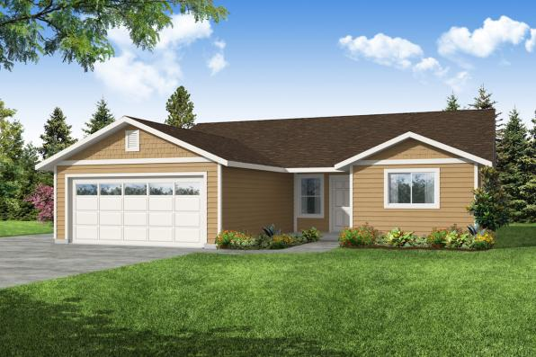 Ranch House Plan - Olalla 30-853 - Front Elevation