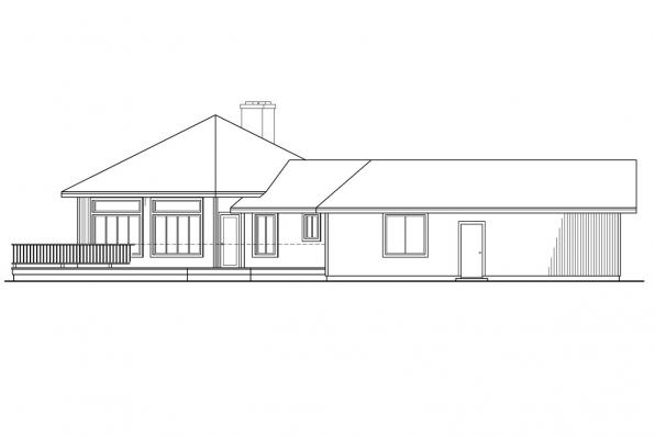 Ranch House Plan - Pendleton 10-140 - Right Elevation