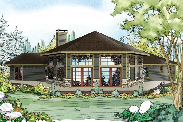 Ranch House Plan - Silvercrest 11-143 - Rear Elevation