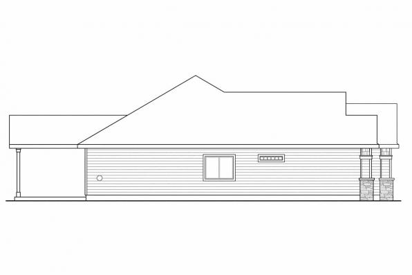 Ranch House Plan - Springwood 30-772 - Right Elevation