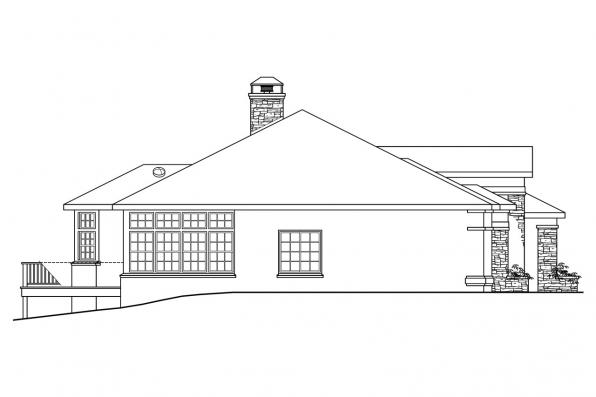 Ranch House Plan - Stevenson 10-502 - Right Elevation