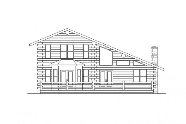 Ranch House Plan - Wickiup 30-116 - Right Elevation