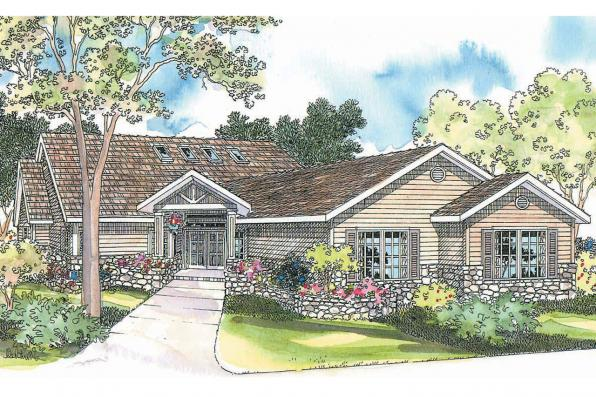 Ranch House Plan - Williston 30-165 - Front Elevation