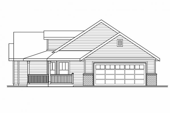 Ranch Style House Plan - Peterson 30-625 - Left Elevation