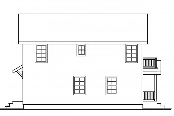 Saltbox House Plan - Castor 30-450 - Right Elevation