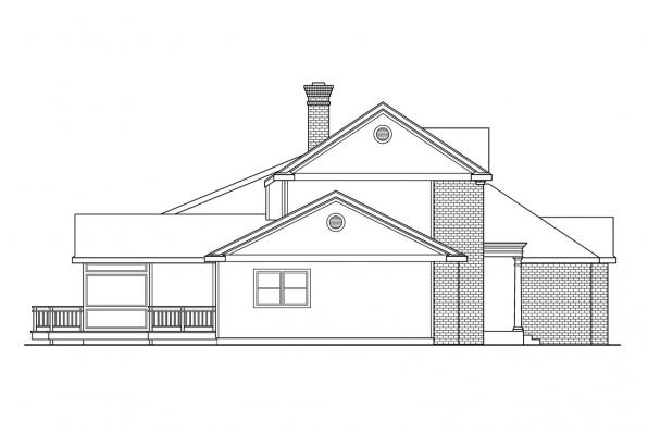 Saltbox House Plan - Cobleskill 10-356 - Right Elevation
