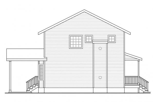 Saltbox House Plan - Green Acres 70-003 - Right Elevation