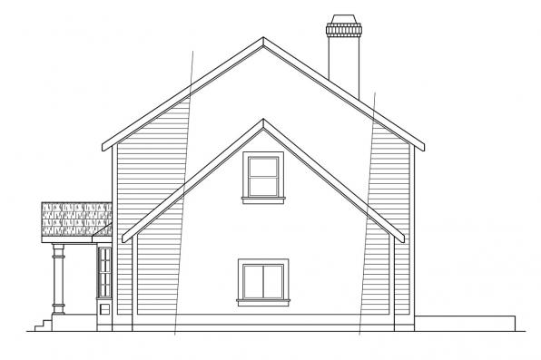 Saltbox House Plan - Westport 10-155 - Left Elevation
